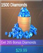 1500 Diamonds خرید دیاموند موبایل لجند