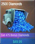 2500 Diamonds خرید دیاموند موبایل لجند